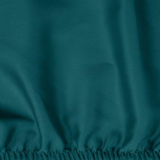 Prześcieradło z makosatyny gładkie 220x200+30cm kolor turkusowy - 220x200+30
