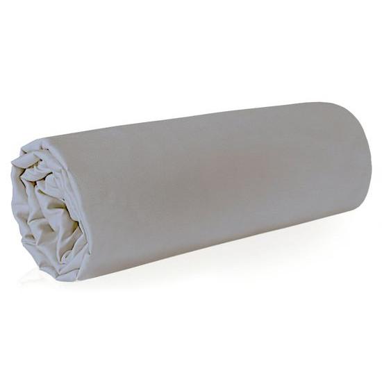 Prześcieradło z makosatyny gładkie 160x210 kolor srebrny - 160 X 210 cm