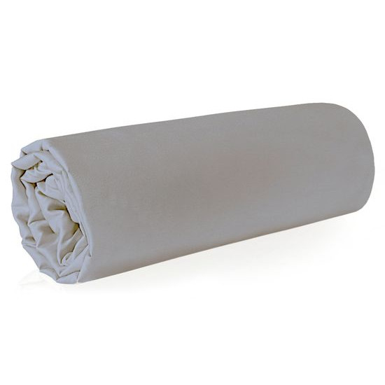 Prześcieradło z makosatyny gładkie 220x210 kolor srebrny - 220 X 210 cm - jasnoszary