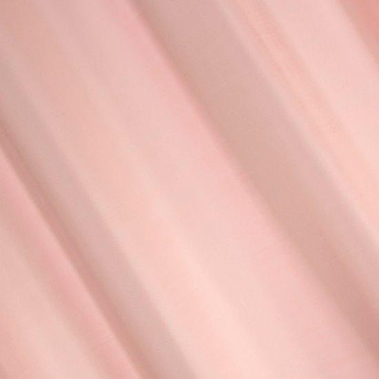 Gładka zasłona z matowej satyny w kolorze pudrowym 140x250 przelotki - 140x250