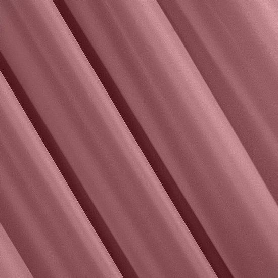 Ciemnoróżowa gładka zasłona z matowej satyny 140x250 przelotki - 140 X 250 cm - ciemny różowy