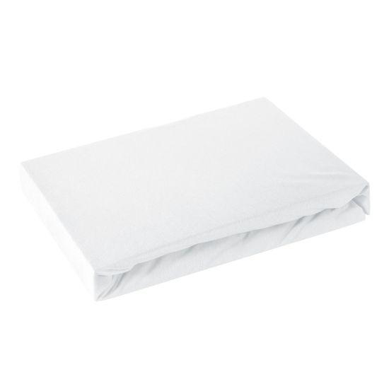 Prześcieradło bawełniane gładkie 160x200+25cm 160 kolor biały - 160 X 200 cm, wys.25 cm