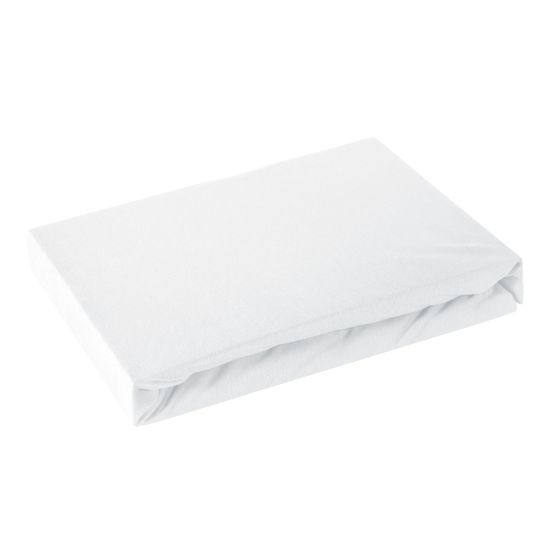Prześcieradło bawełniane gładkie 180x200+25cm 160 kolor biały - 180 X 200 cm, wys.25 cm - biały