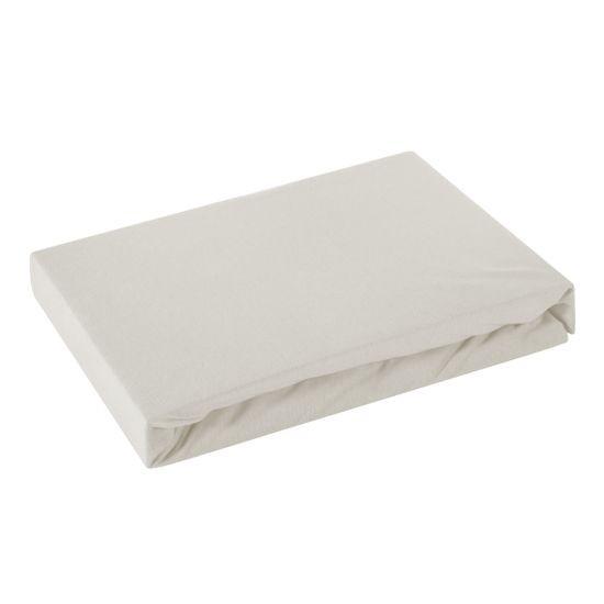 Prześcieradło bawełniane gładkie 180x200+25cm 160 kolor srebrny - 180 X 200 cm, wys.25 cm - jasnoszary