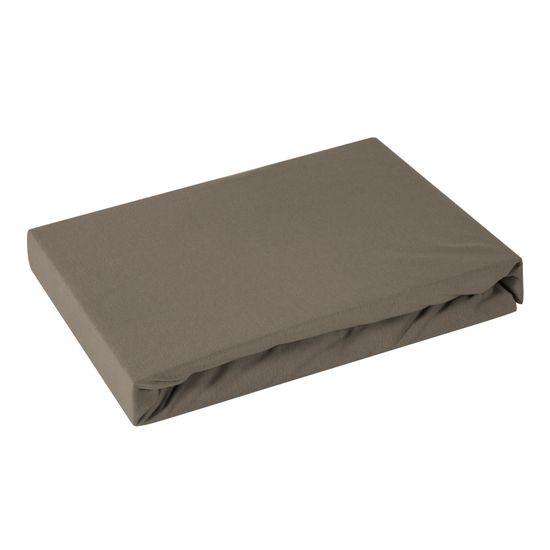 Prześcieradło bawełniane gładkie 180x200+25cm 160 kolor brązowy - 180 X 200 cm, wys.25 cm - brązowy