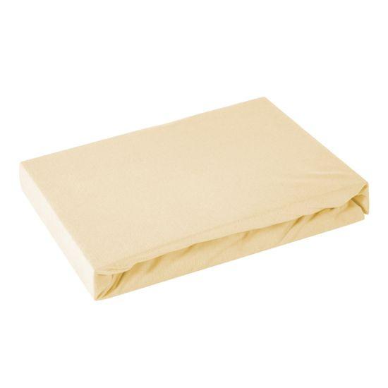 Prześcieradło bawełniane gładkie 90x200+25cm 160 kolor morelowy - 90 x 200 cm, wys.25 cm