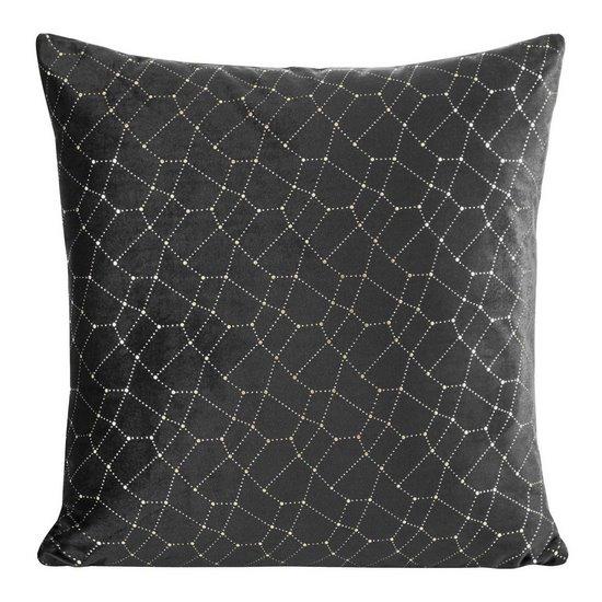 Poszewka dekoracyjna na poduszkę  45 x 45 Kolor Czarny - 45x45 - czarny