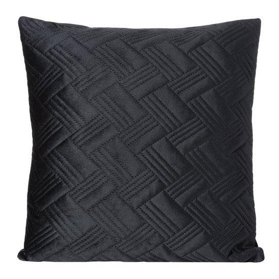Poszewka dekoracyjna na poduszkę 45 x 45 kolor czarny - 45 X 45 cm