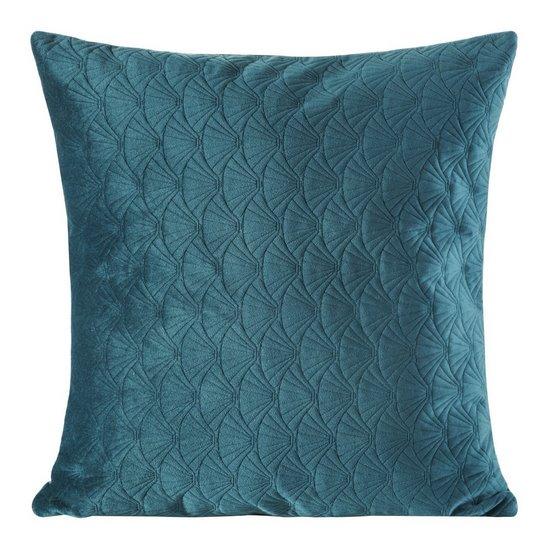 Poszewka dekoracyjna na poduszkę 45 x 45 kolor c.turkusowy - 45 X 45 cm - c.turkusowy