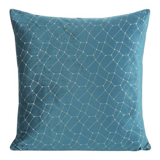 Poszewka dekoracyjna na poduszkę 45 x 45 kolor c.turkusowy - 45 X 45 cm