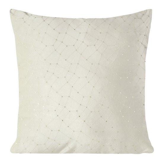 Poszewka dekoracyjna na poduszkę 45 x 45 kolor beżowy - 45 X 45 cm - beżowy