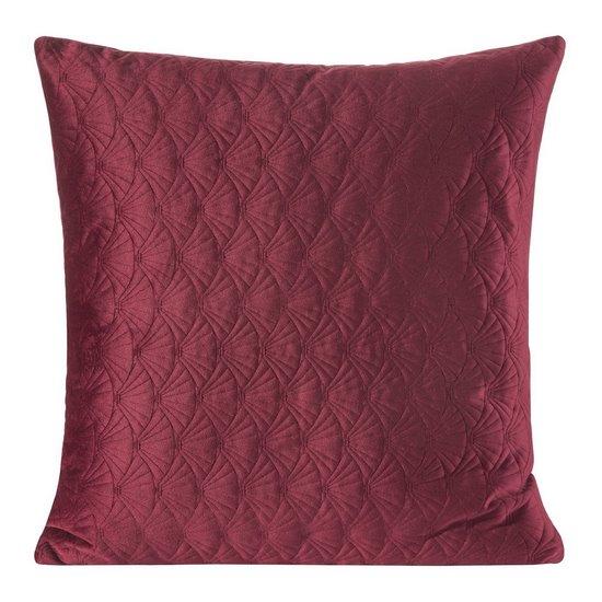 Poszewka dekoracyjna na poduszkę 45 x 45 kolor bordowy - 45 X 45 cm