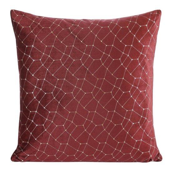 Poszewka dekoracyjna na poduszkę  45 x 45 Kolor Bordowy - 45x45