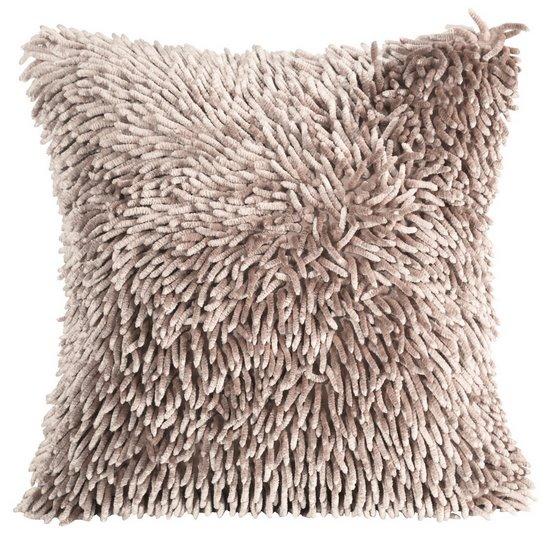 Poszewka na poduszkę włosie shaggy pudrowa 40 x 40 cm  - 40x40