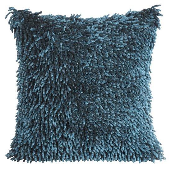 Poszewka dwustronna włosie shaggy turkusowa 40 x 40 cm - 40x40