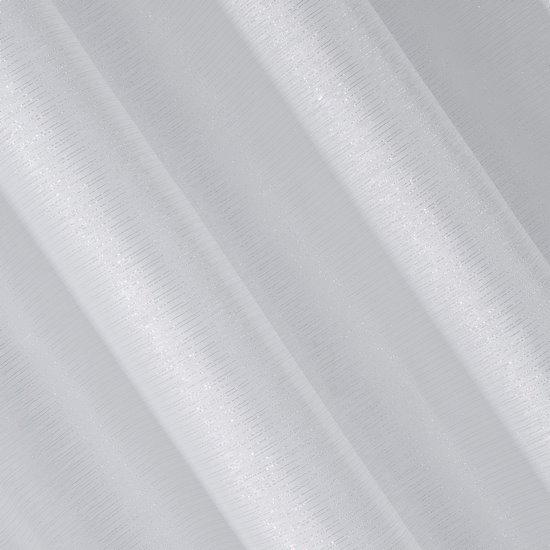 Zasłona biało srebrna na przelotkach 140 x 250 cm  - 140 X 250 cm