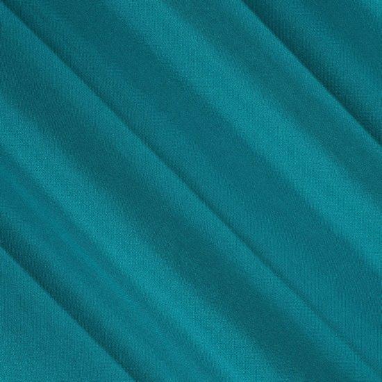 Gruba zasłona turkusowa 135x250 na przelotkach - 135x250