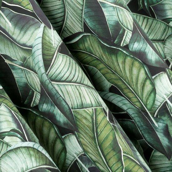Zasłona welwetowa liście bananowca 140x250 cm przelotki - 140 X 250 cm