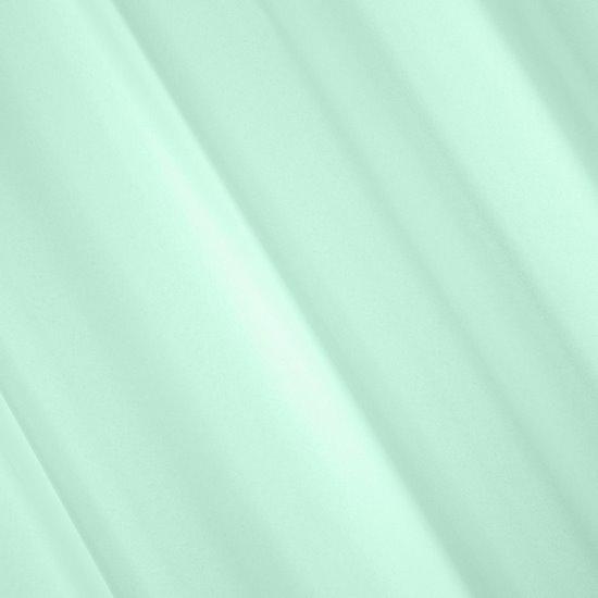 Miętowa gładka zasłona z matowej satyny 140x250 przelotki - 140x250
