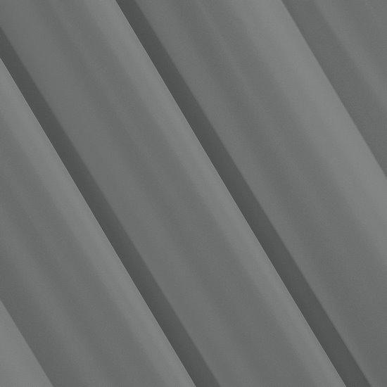 Szara gładka zasłona z matowej satyny 140x250 przelotki - 140x250