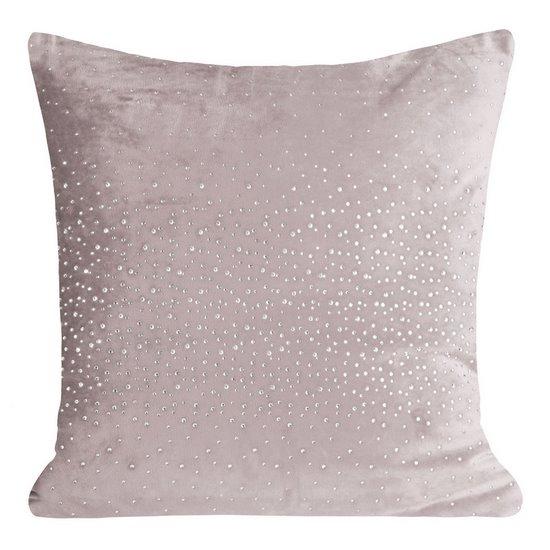 Poszewka dekoracyjna na poduszkę 45 x 45 kolor c.różowy - 45x45 - różowy