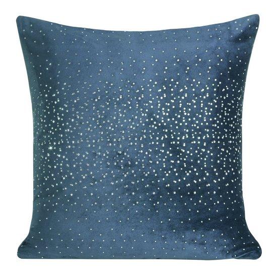 Poszewka dekoracyjna na poduszkę  45 x 45 Kolor Granatowy - 45x45