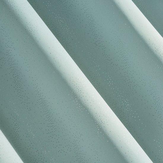 Zasłona zaciemniająca ze srebrzystymi kropeczkami na przelotkach 140 x 250 cm miętowa - 140 X 250 cm