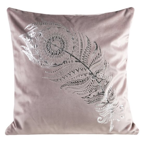 Poszewka dekoracyjna na poduszkę 45 x 45 kolor różowy - 45 X 45 cm - różowy