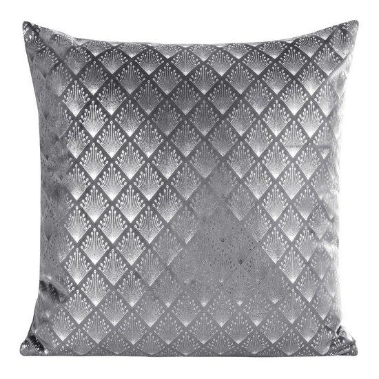 Poszewka dekoracyjna na poduszkę 45 x 45 kolor stalowy/srebrny - 45x45