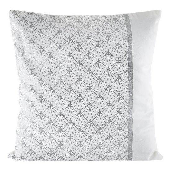 Poszewka dekoracyjna na poduszkę  45 x 45 Kolor Biały/Srebrny - 45x45