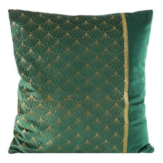 Poszewka dekoracyjna na poduszkę  45 x 45 Kolor Zielony/Złoty - 45x45 - zielony / złoty