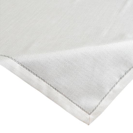 Biały obrus do jadalni srebrna koronka 85x85 cm  - 85 X 85 cm