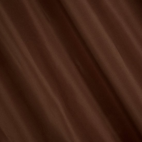 Gładka zasłona z matowej satyny kawowa na przelotkach 140x250 - 140x250 - kawowy