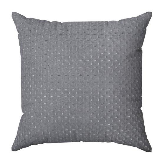 Poszewka na poduszkę dwustronna pikowana szaro-srebrna 40 x 40 cm  - 40x40