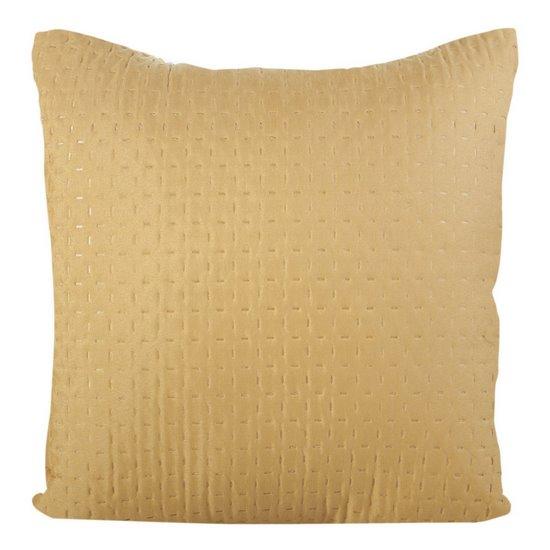 Poszewka na poduszkę pikowana żółta 40 x 40 cm  - 40x40