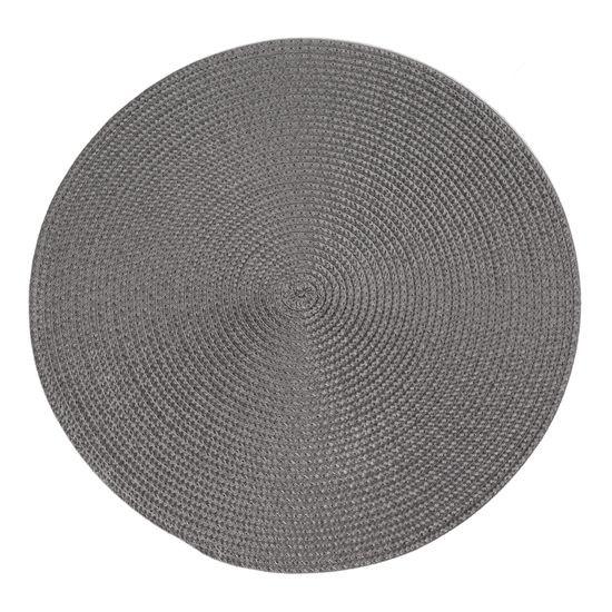 Okrągła podkładka stołowa stalowy szary średnica 38 cm - ∅ 38 cm - szary