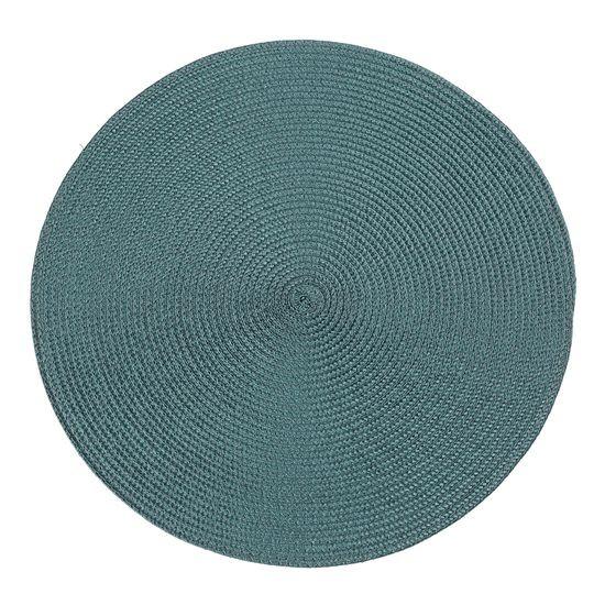 Okrągła podkładka stołowa ciemny turkus średnica 38 cm - ∅ 38 cm - petrol
