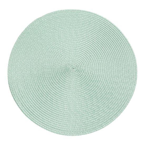 Okrągła podkładka stołowa miętowa średnica 38 cm - ∅ 38 cm - miętowy