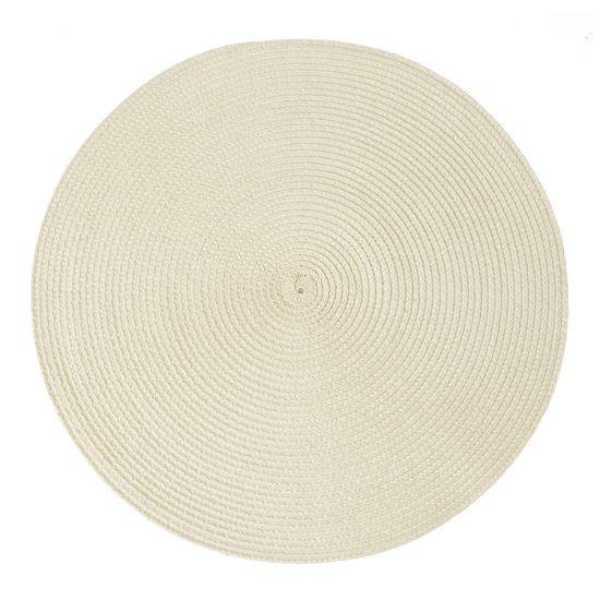 Okrągła podkładka stołowa beżowa średnica 38 cm - ∅ 38 cm - jasnobeżowy