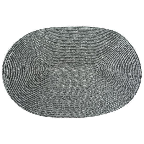 Owalna podkładka stołowa stalowy szary 30x45 cm - 45 X 30 cm - stalowy