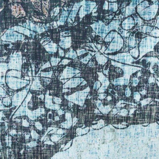 Komplet pościeli bawełnianej 220 x 200, 2 szt. 70 x 80 nadruk przecierany mandala hiszpańska bawełna - 220x200 - niebieski