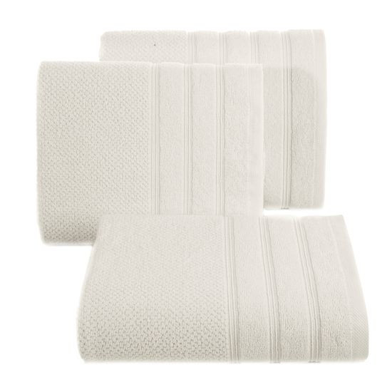 Bawełniany RĘCZNIK kąpielowy frote kremowy 50x90 - 50x90