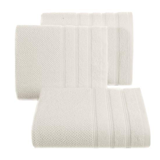 Bawełniany ręcznik kąpielowy frote kremowy 70x140 - 70 X 140 cm