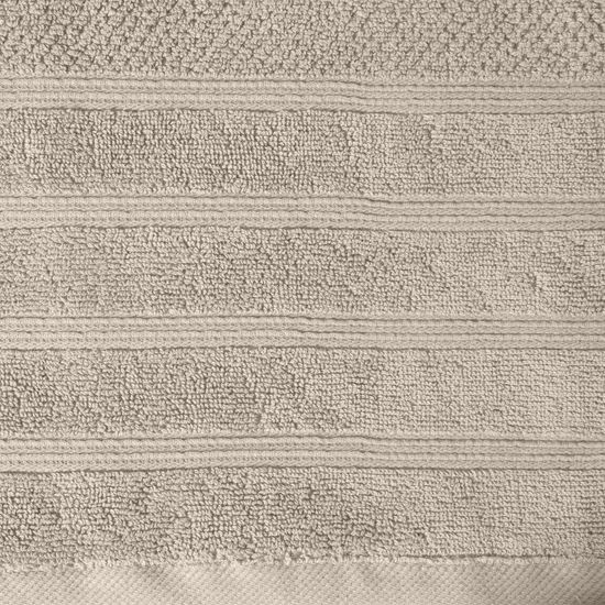Bawełniany RĘCZNIKA kąpielowy frote beżowy 50x90 - 50x90
