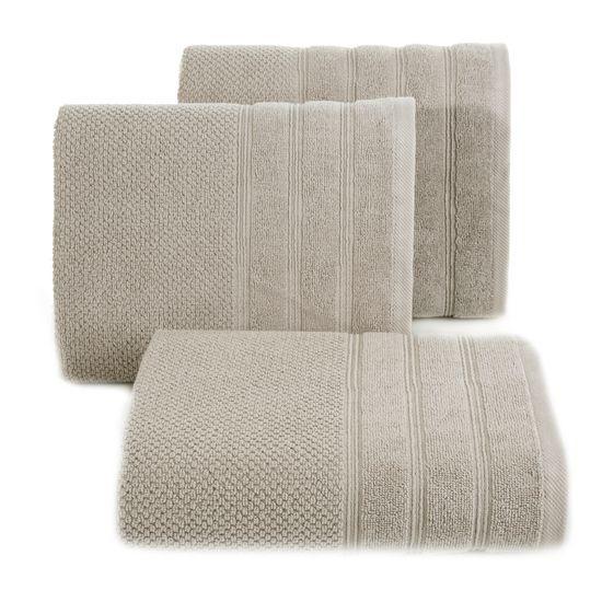Bawełniany ręcznik kąpielowy frote beżowy 70x140 - 70 X 140 cm