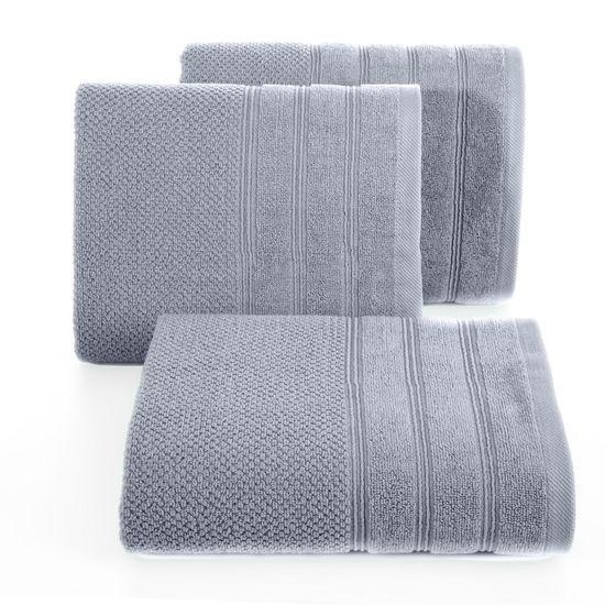 Bawełniany ręcznik kąpielowy frote srebrny 50x90 - 50 X 90 cm