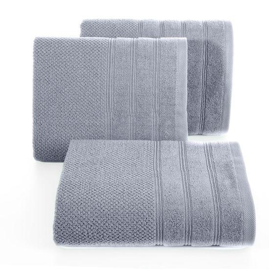 Bawełniany ręcznik kąpielowy frote srebrny 70x140 - 70 X 140 cm - srebrny