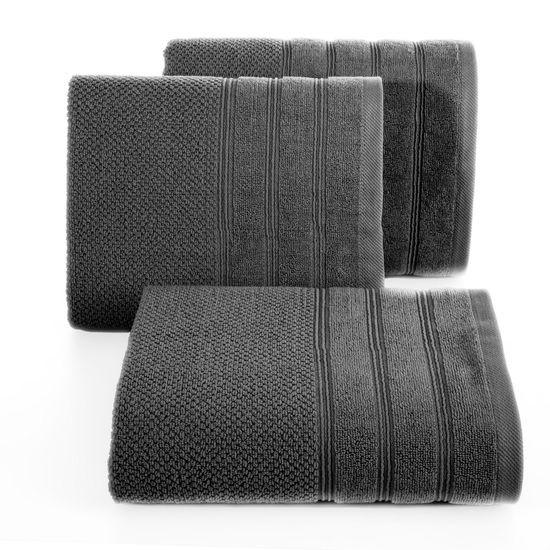 Bawełniany RĘCZNIK kąpielowy frote STALOWY 50x90 - 50x90