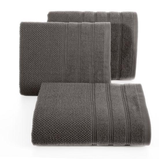 Bawełniany ręcznik kąpielowy frote grafitowy 70x140 - 70 X 140 cm - stalowy