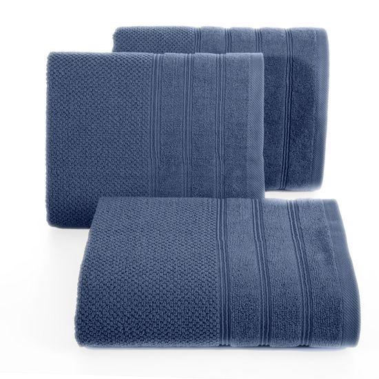 Bawełniany ręcznik kąpielowy frote niebieski 70x140 - 70 X 140 cm - granatowy